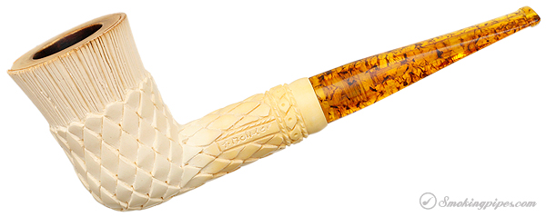 CAO/Beckler Meerschaum Carved Dublin with Case