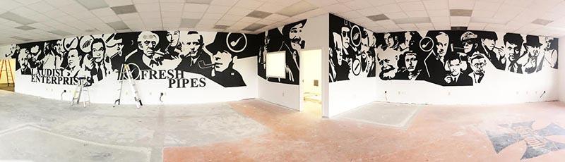 Mural Art at Smokingpipes.com