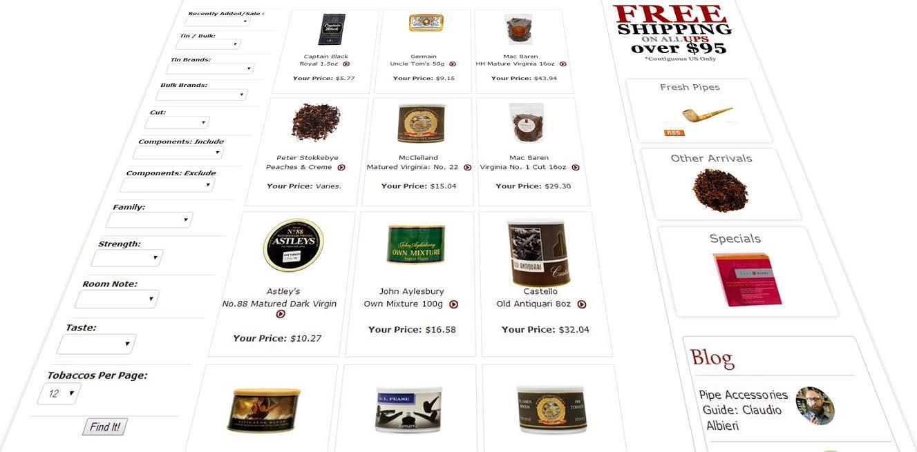 Tobacco Locator at Smokingpipes.com