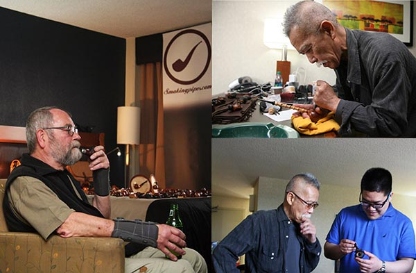 The smoking pipes booth at cpcc