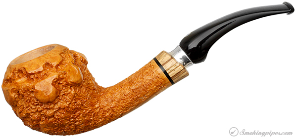Ardor Goccia Fantasy Bent Apple with Silver and Zebrawood