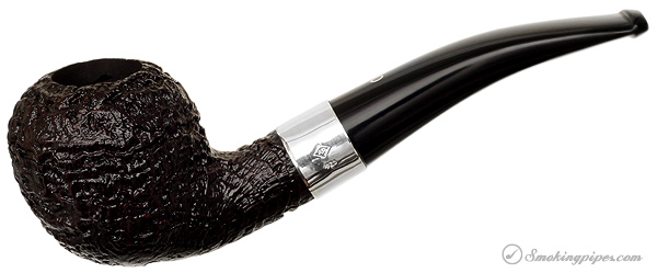 Ashton Pebble Grain Bent Rhodesian with Silver (XXX)