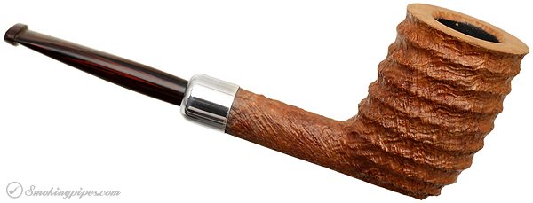 Becker Sandblasted Billiard with Silver Army Mount (Four Clubs)