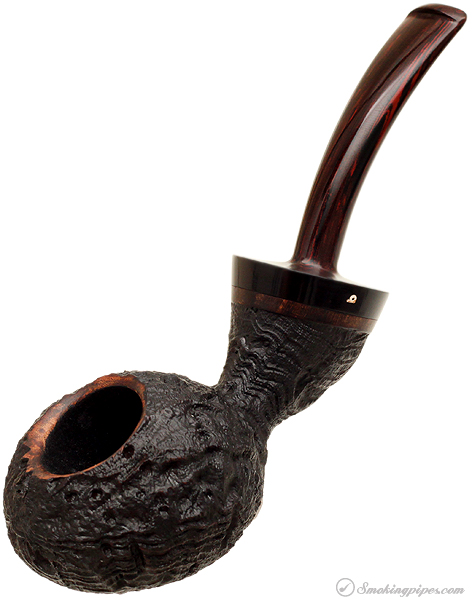 Becker Sandblasted Strawberry Wood Bent Tomato (Four Clubs)