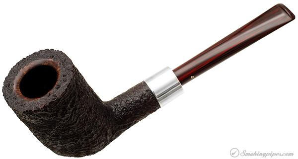 Becker Sandblasted Strawberry Wood Billiard with Silver (Three Clubs)