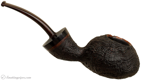 Becker Sandblasted Strawberry Wood Bent Tomato (Three Clubs)