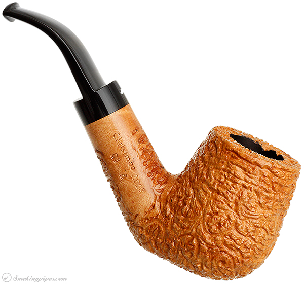 Caminetto Smokingpipes.com Limited Edition Christmas Rusticated Bent Billiard (2013) (08/8)