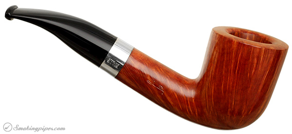 Savinelli Autograph Smooth Bent Billiard with Silver (3) (6mm)