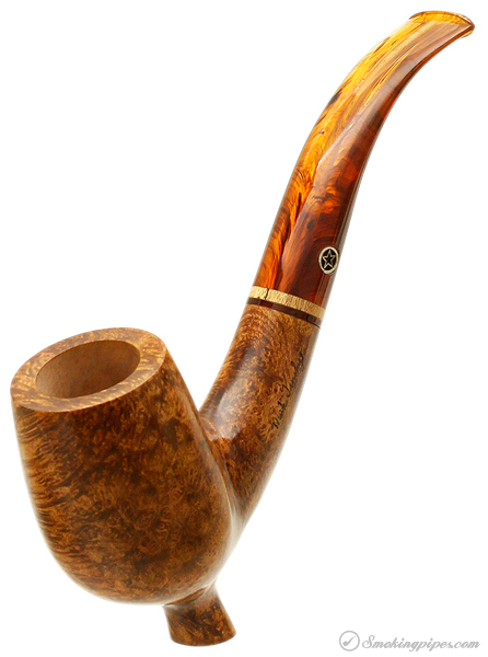 Mark Tinsky Cabernet Bent Billiard with Exotic Wood (5) (X) (Two Star)