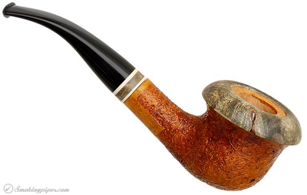 Mark Tinsky Sandblasted Calabash with Exotic Wood (4)
