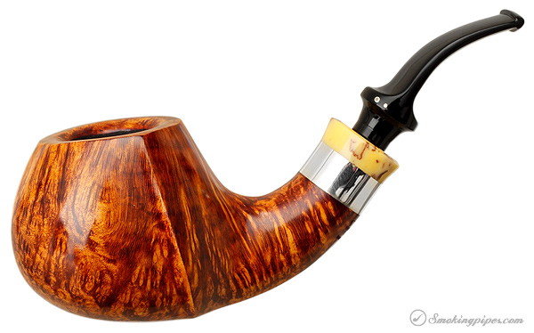 Winslow Smooth Bent Apple with Silver (C)