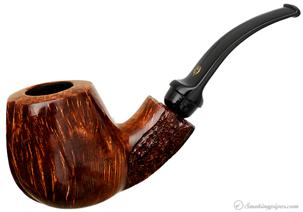 Winslow Crown Partially Rusticated Bent Brandy (Viking)