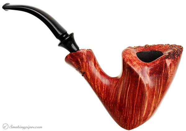 Randy Wiley Feather Carved Bent Freehand Sitter with Plateau (88)