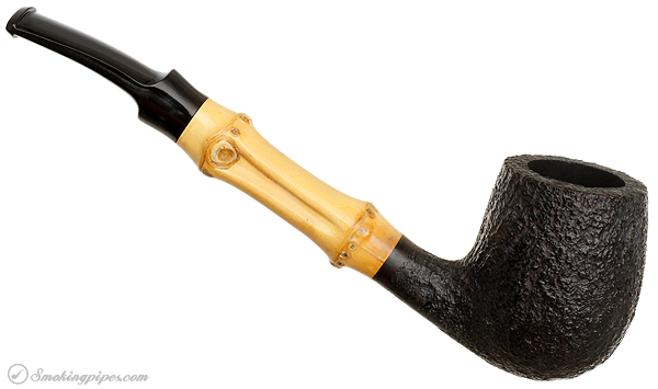 Tsuge Sandblasted Bent Billiard with Bamboo
