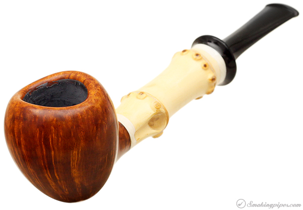 Tokutomi Smooth Apple with Bamboo and Mastodon Ivory