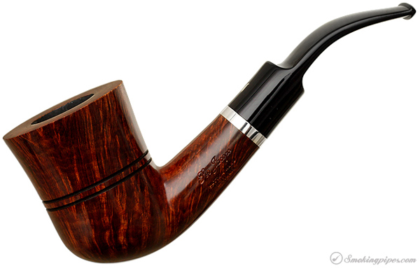 Ser Jacopo Walnut Bent Dublin with Silver Band (L1)