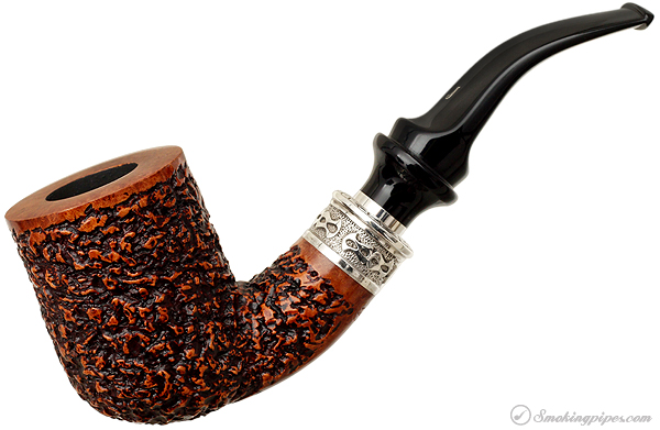 Ser Jacopo Rusticated Bent Billiard with Delecta Silver Mount (R1)