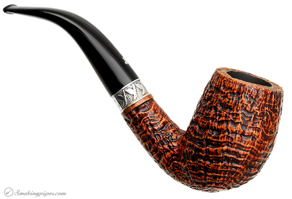 Ser Jacopo Picta Magritte Sandblasted Bent Billiard with Silver (S2) (19)
