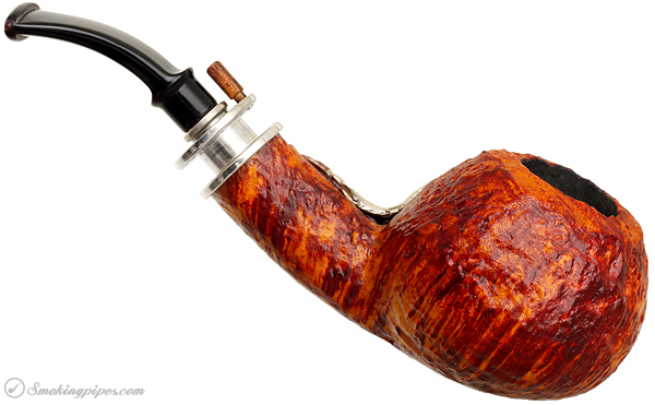 Neerup P. Jeppesen Salmon Silver Sandblasted Bent Apple