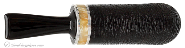 """Rolando Negoita Satin Black Rusticated  """"Conducta"""" with Mother of Pearl and Tamper"""
