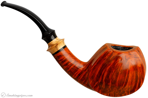 Lasse Skovgaard Smooth Bent Apple with Olivewood (Lion)