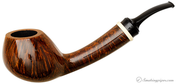 Alex Florov Smooth Bent Brandy with Mammoth Ivory