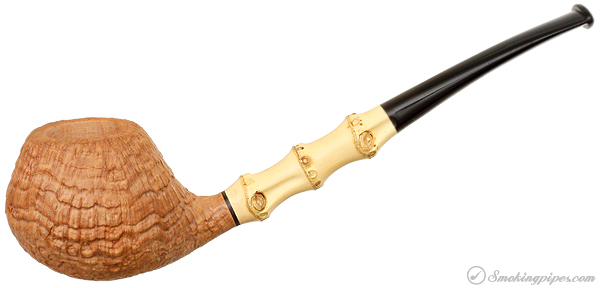 Gregor Lobnik Sandblasted Bent Brandy with Bamboo