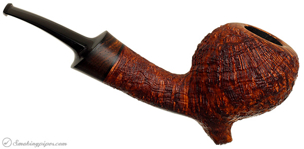 J. Alan Pipes Sandblasted Gourd with Cocobolo