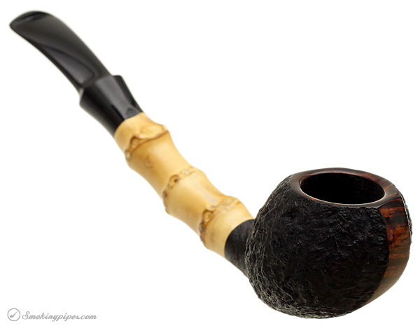J. Alan Pipes Partially Sandblasted Blowfish with Bamboo