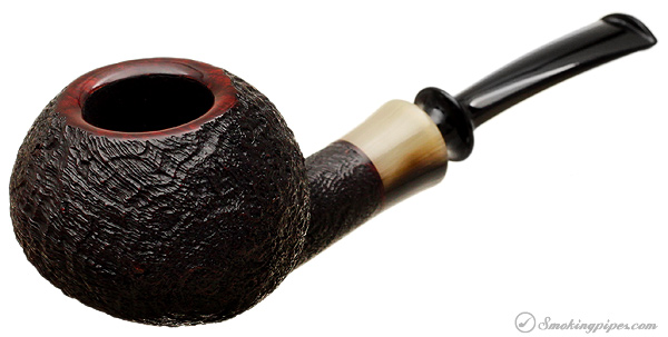 J. Alan Pipes Sandblasted Bent Tomato with Horn