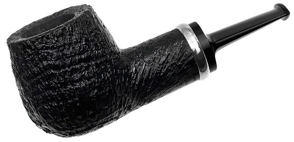 J. Alan Pipes Sandblasted Pot with Argentium Silver (1085)