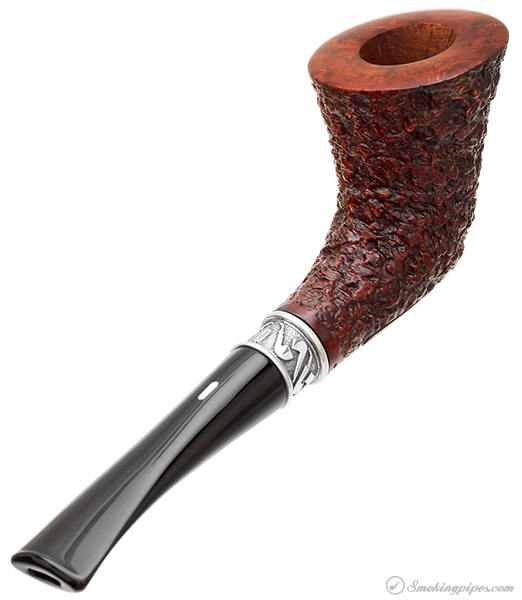 Castello Pipe of the Year 1998 Sea Rock Briar Bent Dublin with Silver (234/235)