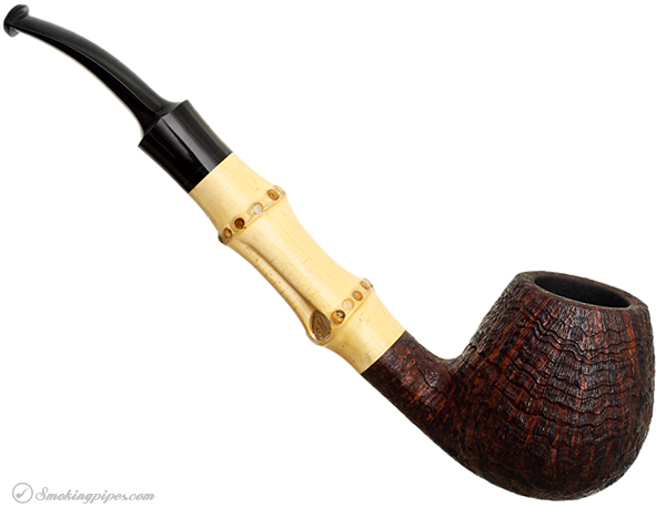 Adam Davidson Sandblasted Bent Brandy with Bamboo