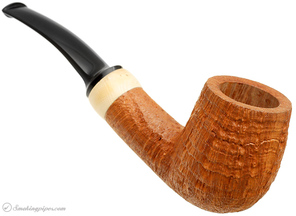 Adam Davidson Sandblasted Bent Billiard with Mammoth Ivory