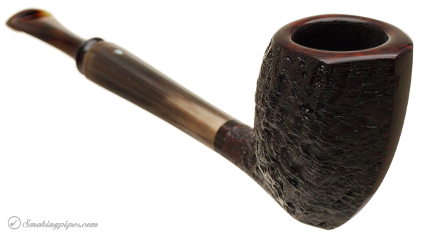 Michael Parks Partially Sandblasted Asymmetrical Cutty with Horn