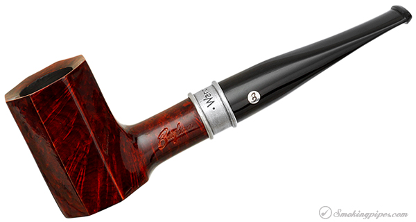 Brigham Pipe of the Year 2012 Smooth Paneled Poker (74/100) (Rock Maple Inserts)