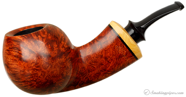 Grechukhin Smooth Bent Apple with Boxwood