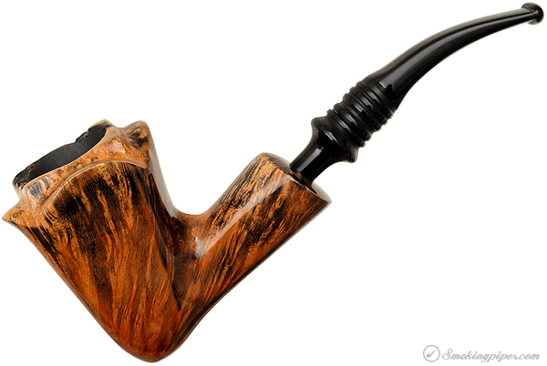 Black Grain Paneled Bent Dublin with Plateau (3)