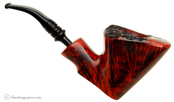 Nording Orange Grain Smooth Freehand Sitter with Plateau (Giant)