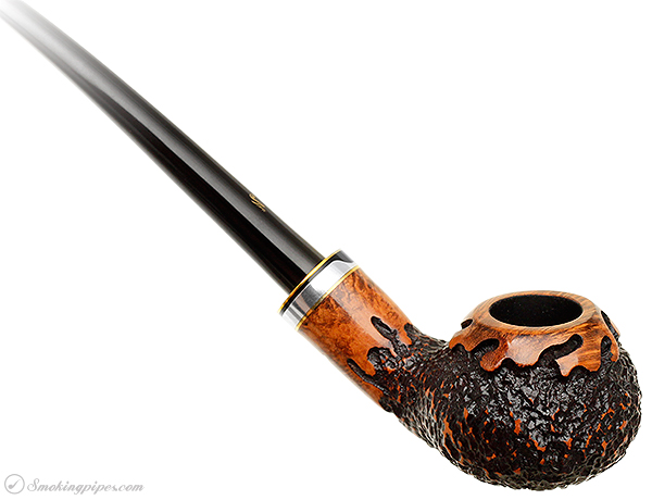 Nording Partially Rusticated Bent Apple Churchwarden