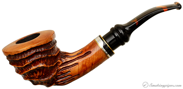 Royal Flush Carved Bent Dublin (Queen)