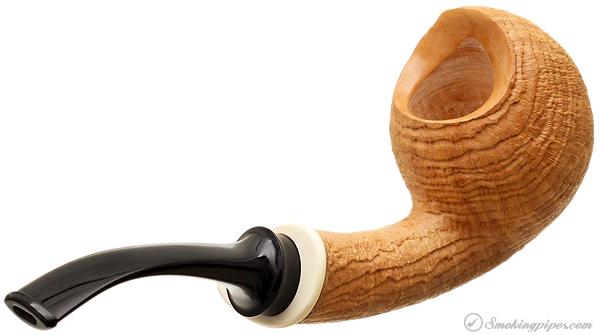 Bruce Weaver Sandblasted Bent Acorn with Mastodon Ivory