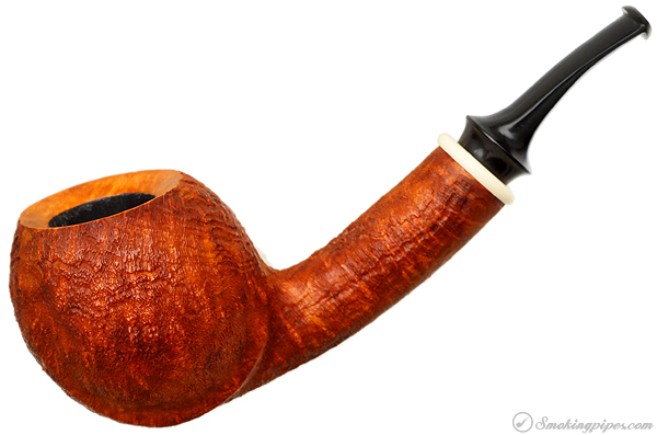 Bruce Weaver Sandblasted Bent Apple with Mastodon Ivory