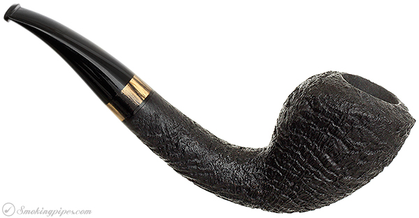Bruce Weaver Sandblasted Bent Dublin with Ebony