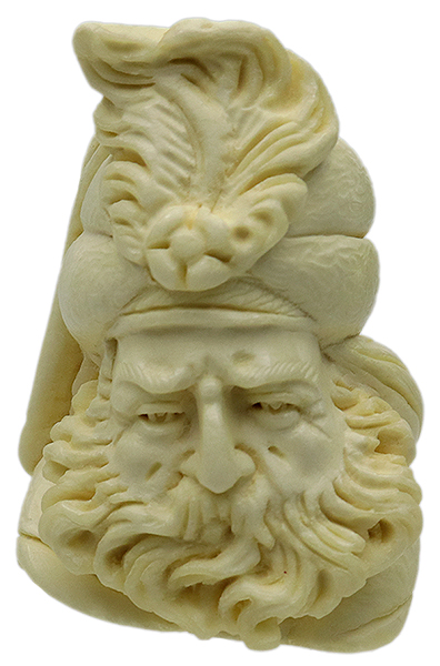 AKB Meerschaum Partially Rusticated Freehand (with Case)