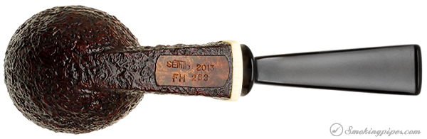 Scott Thile Sandblasted Bent Egg with Celluloid (FH) (263)