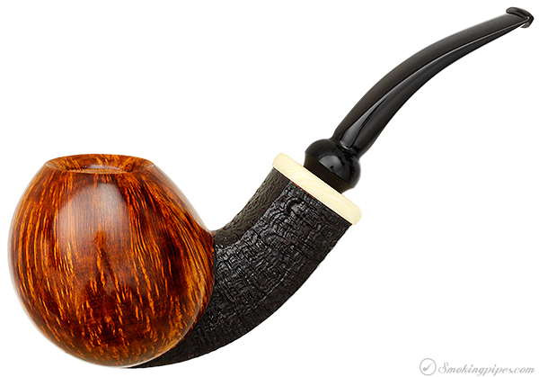 Scott Thile Partially Sandblasted Bent Egg with Celluloid (FH) (302)