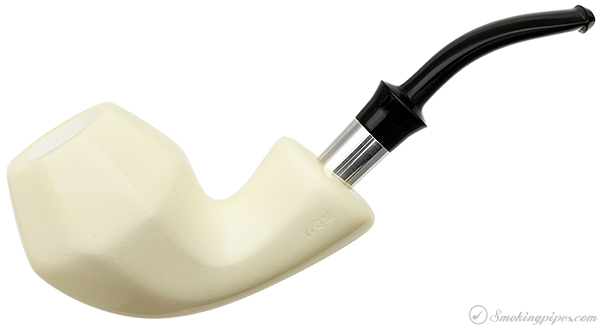 WGM Meerschaum Smooth Paneled Rhodesian with Silver (with Case)