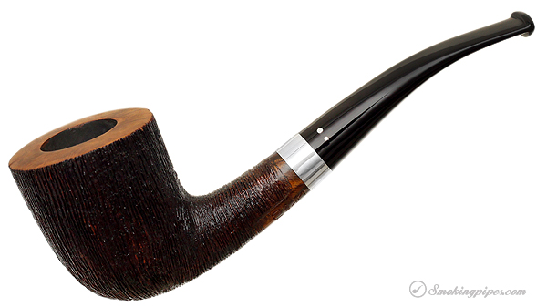 Danish Estate Winslow Classical Rusticated Bent Dublin with Silver Band (E) (9mm) (Unsmoked)