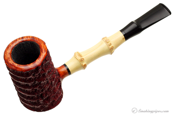 Danish Estate Tom Eltang Rusticated Poker with Bamboo (Unsmoked)